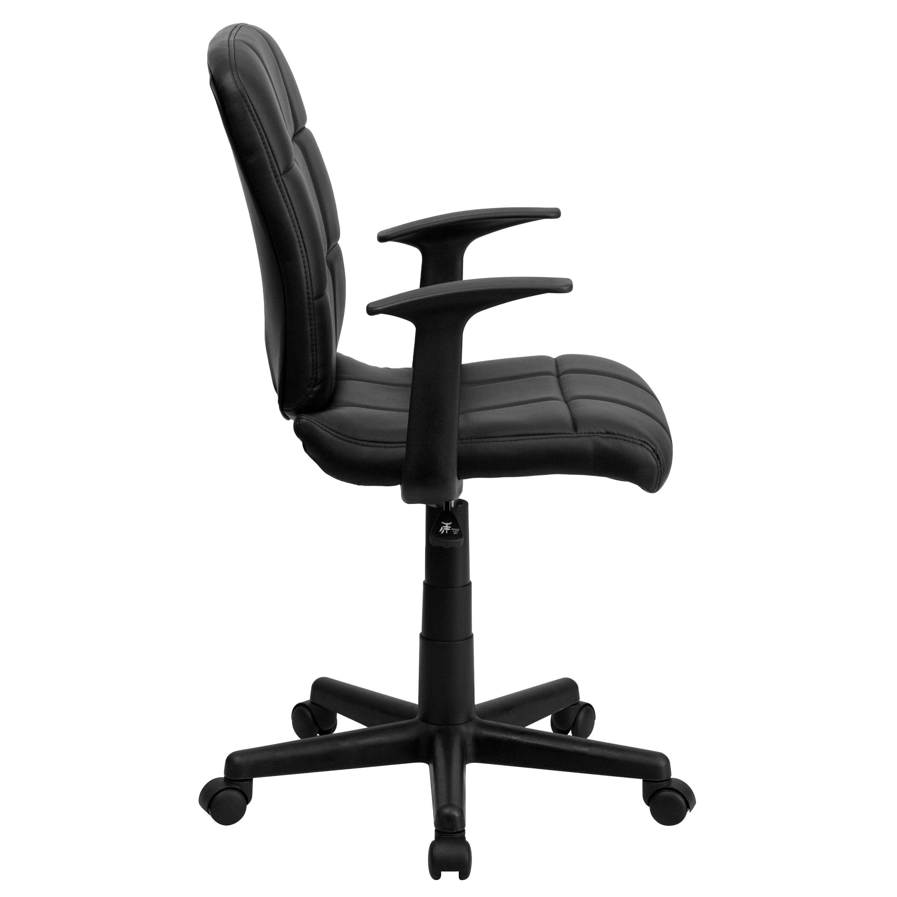 quilted swivel chair outdoor egg black mid back task go 1691 1 bk a gg schoolfurniture4less com