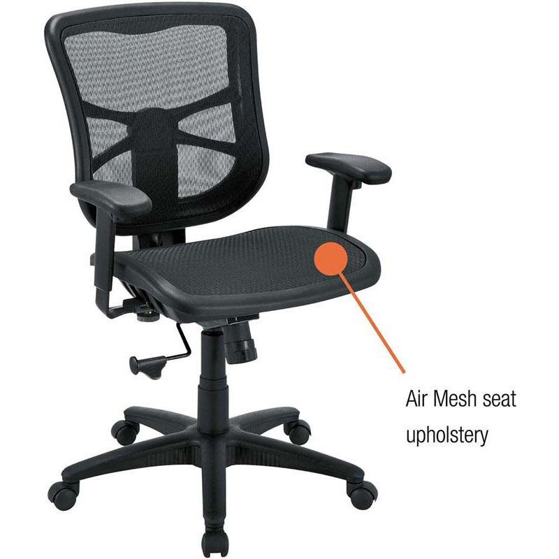 alera elusion chair adirondack lounge chairs air mesh mid back black aleel42b18 schoolfurniture4less com our reg series swivel and tilt arm