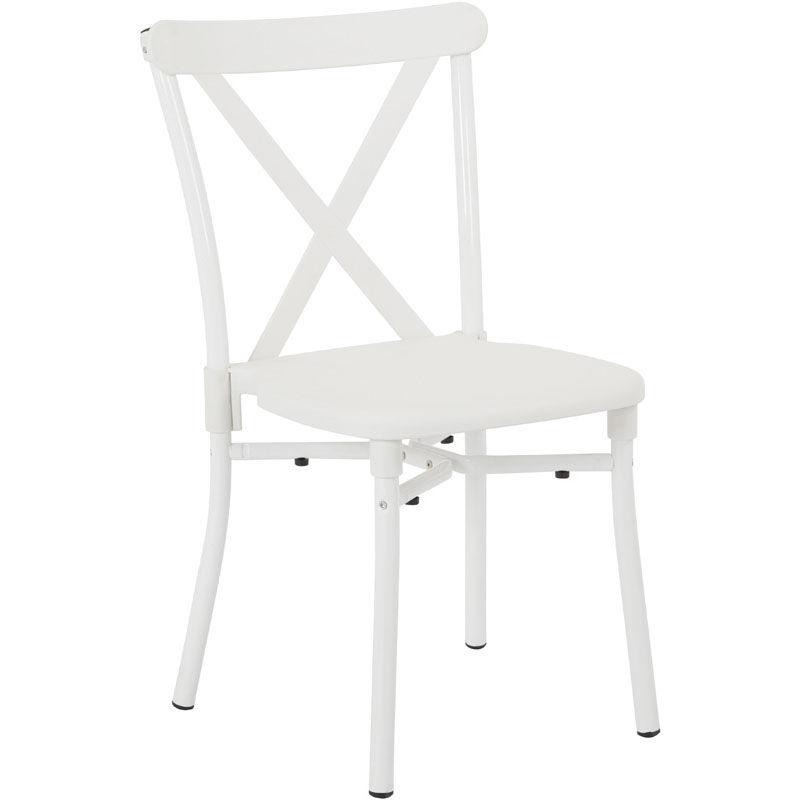 white x back chair cross dining chairs set of 13 work smart stack stx8310ac13 11 plastic stacking with aluminum frame