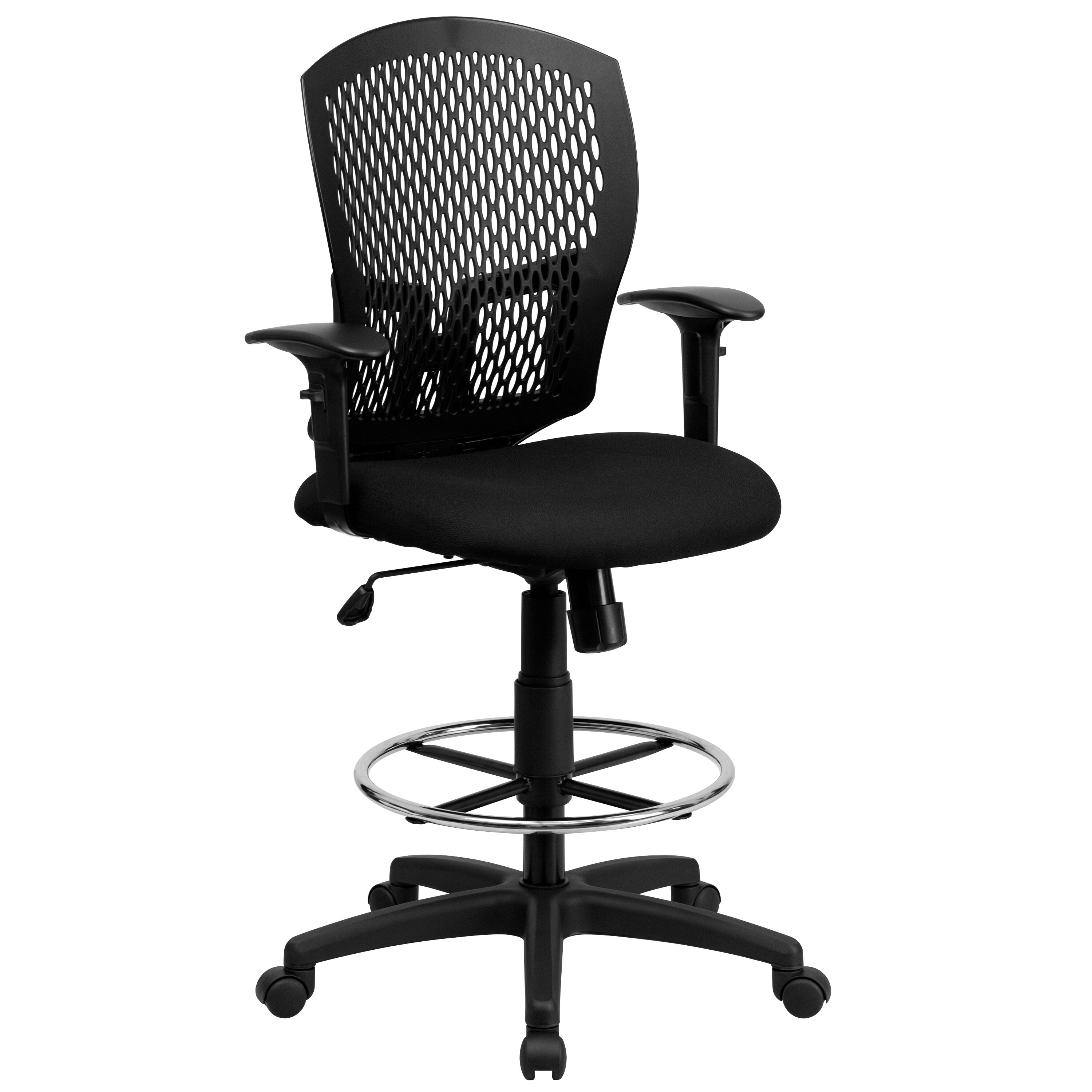 drafting chairs with arms 30 second chair stand results black designer draft wl 3958syg bk ad gg schoolfurniture4less com