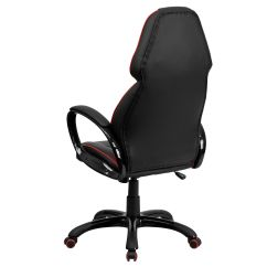 Red High Back Chair Pottery Barn Anywhere Chairs Black Vinyl Ch Cx0248h01 Ven Gg