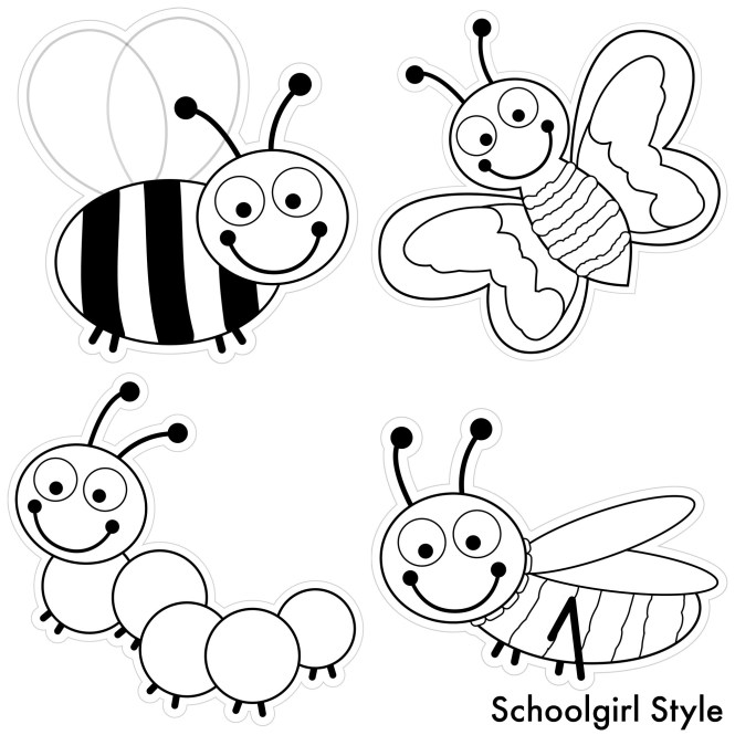 Color My Clroom Bugs By School Style