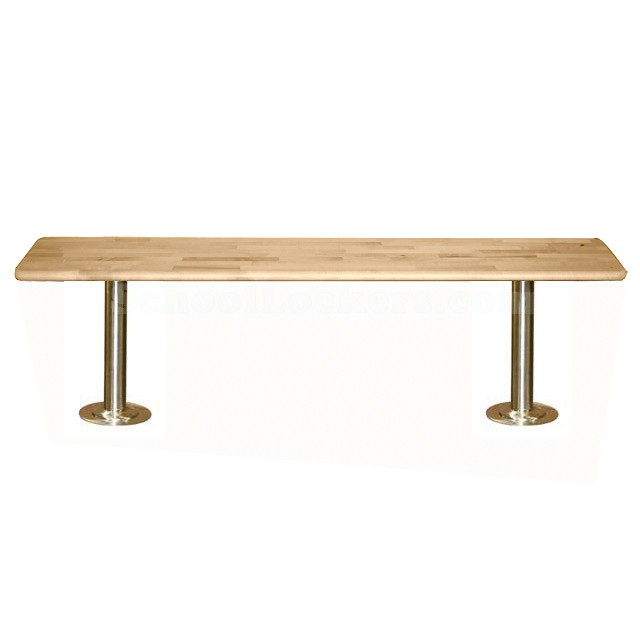 Locker Room Benches with Stainless Steel Pedestals