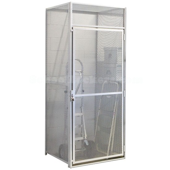 Single Door Metal Wire Mesh Storage Locker AddOn Units