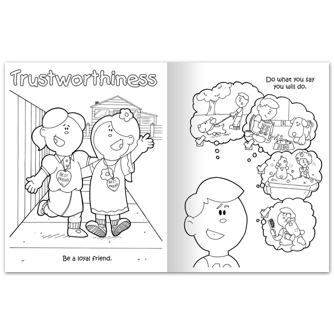 Be Trustworthy Coloring Page Coloring Pages