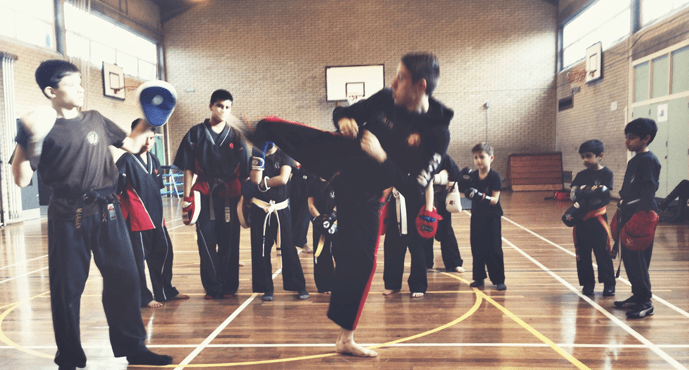 Kids 4-6 years Karate/Kickboxing in Solihull School of Black Belts