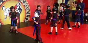 Kids Ninja Belt test