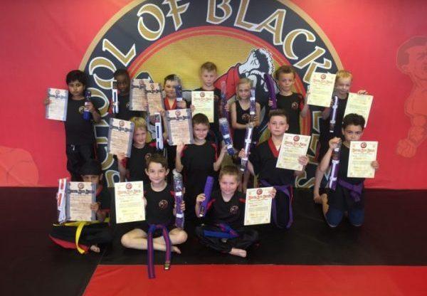 Martial Arts belt Testing Results .