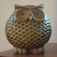 White Ceramic Owl
