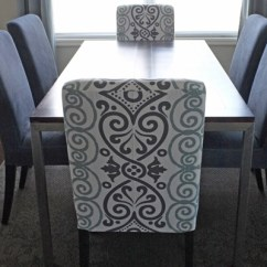 Gray Chair Slipcover Kmart Kids Chairs Diy Dining Slipcovers From A Tablecloth Modern