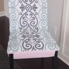 Dining Chair Covers Diy Hotel Chairs For Sale Slipcovers From A Tablecloth Turned Slipcover