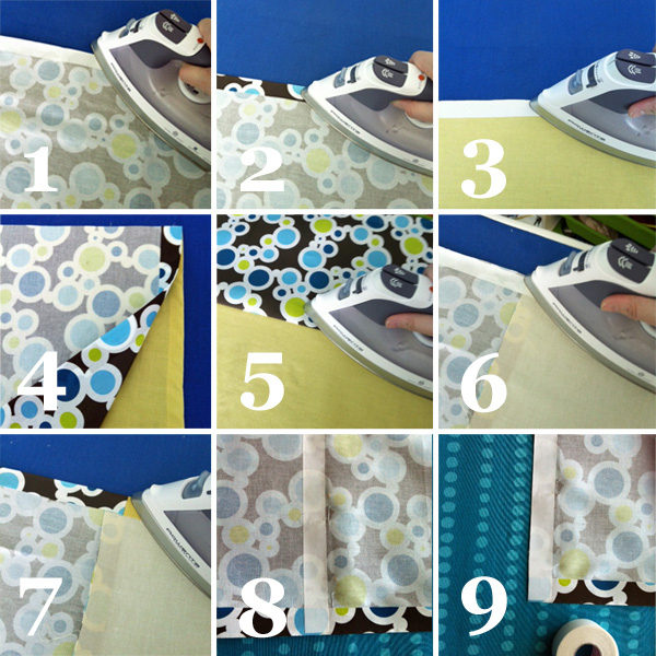 No Sew Shower Curtain Curtains Tutorial School Of Decorating By