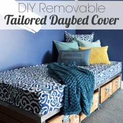 How Much Fabric To Make A Sofa Cover Waterproof Mattress Protector For Sleeper Diy Removable Tailored Daybed Favorite Source