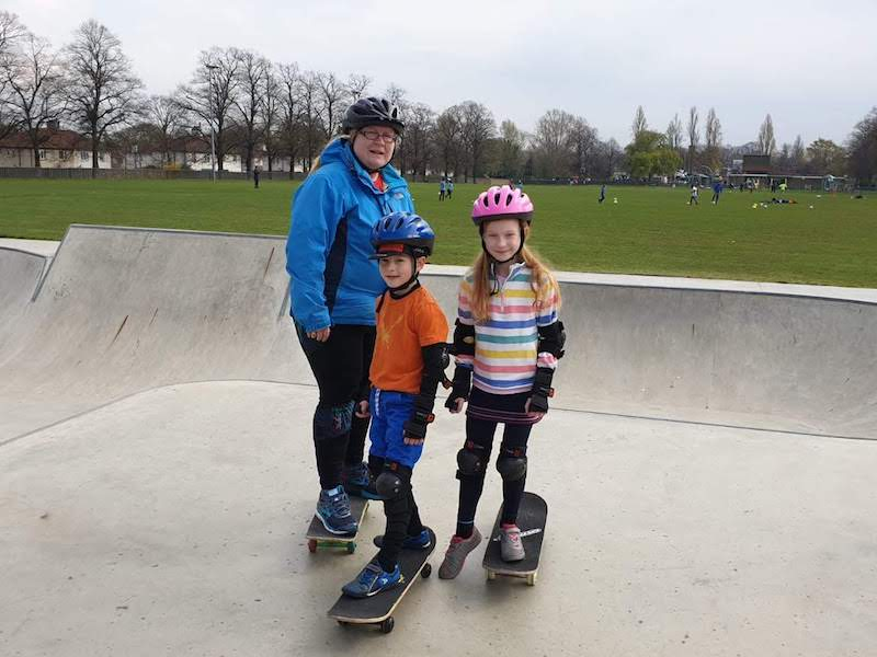 Family skateboard lessons Greenwich London