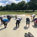 skateboard lesson warm up