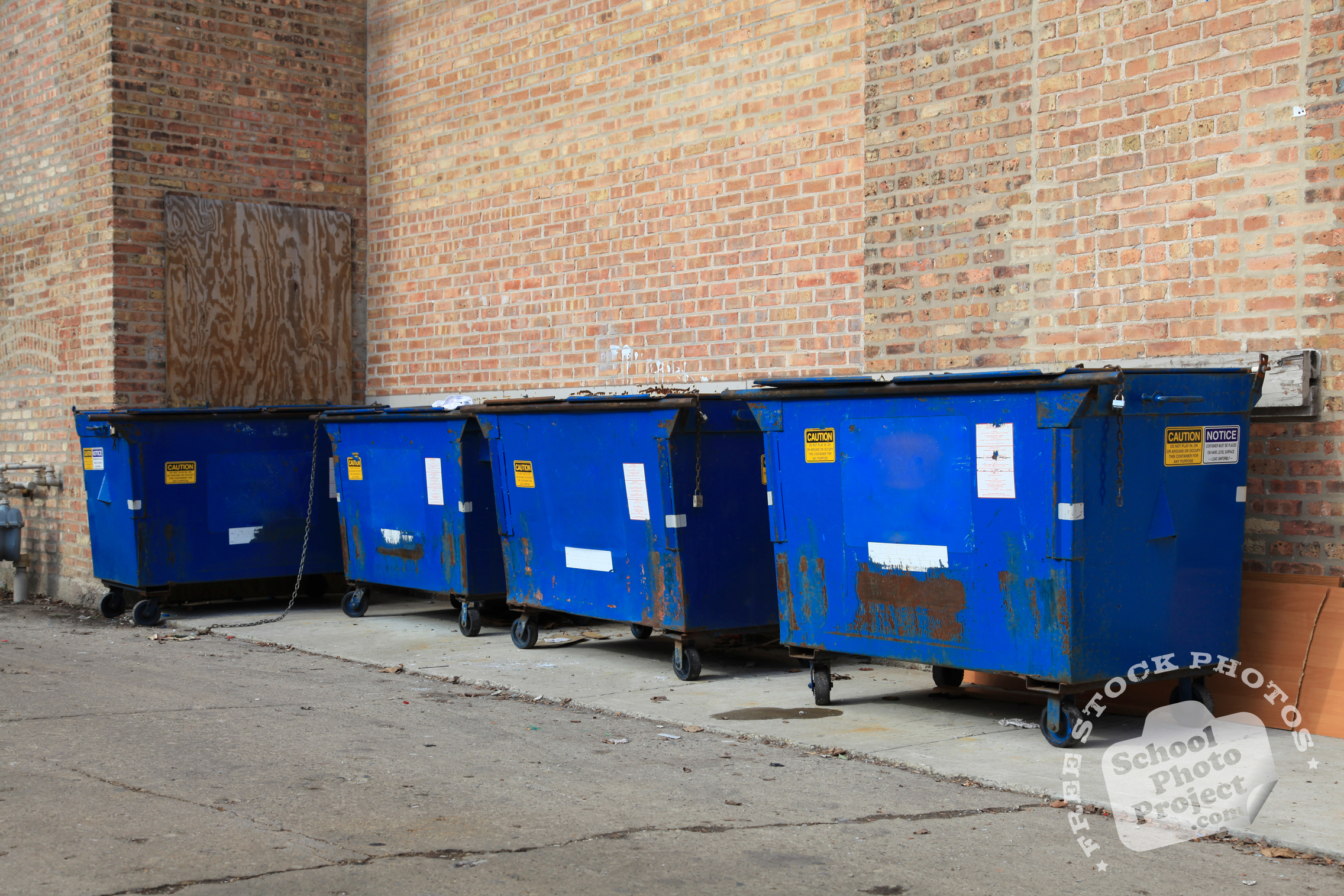 city dumpsters free stock