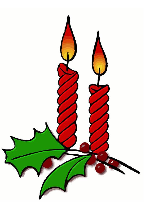 Afbeelding  prent kerstkaarsen  Afb 20325 Images