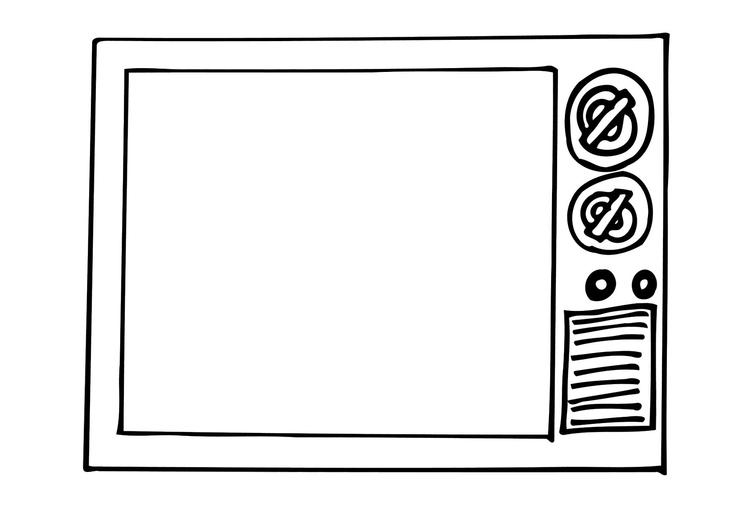 Kleurplaat TV Gratis kleurplaten om te printen - afb 12296