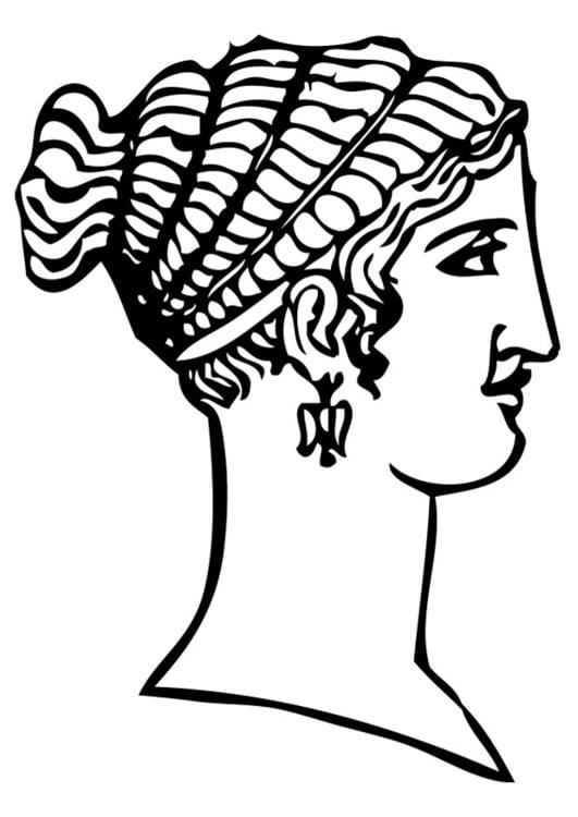 Kleurplaat Griekse Tempel