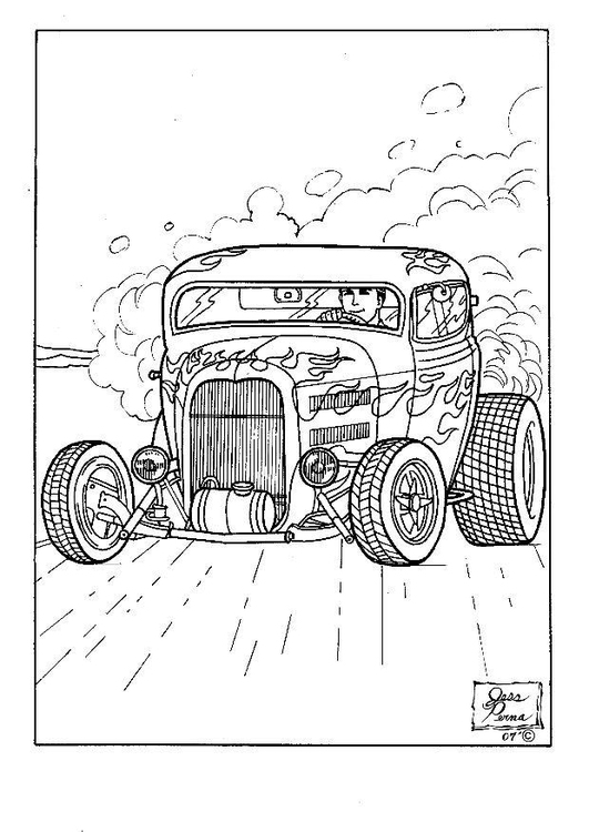 Hot Rod Transformers Coloring Pages