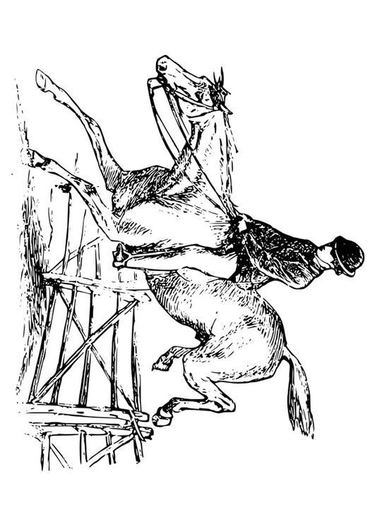 Kleurplaat Hoofd Paard