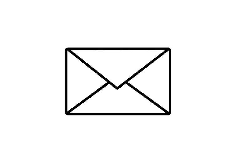 madonna hot: Kleurplaat post enveloppe