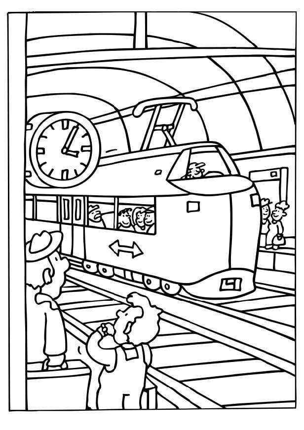 kleurplaat vrachtwagen auto electrical wiring diagram MZ Skorpion 1997 kleurplaat trein station