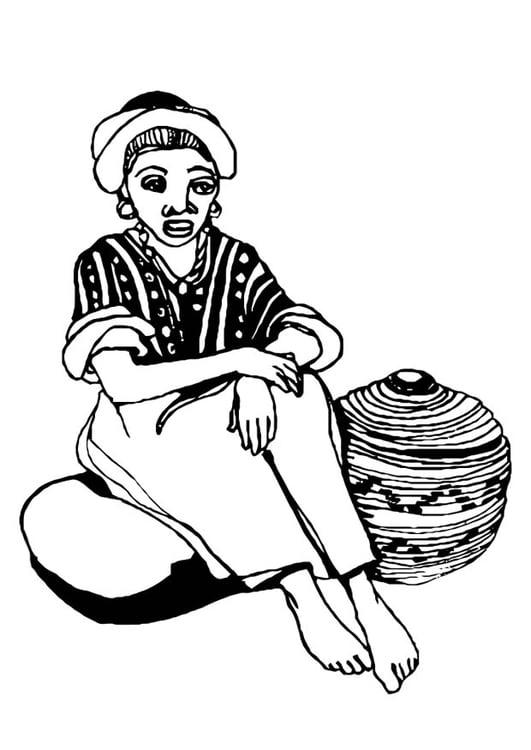 Kleurplaat vrouw - Afb 10980