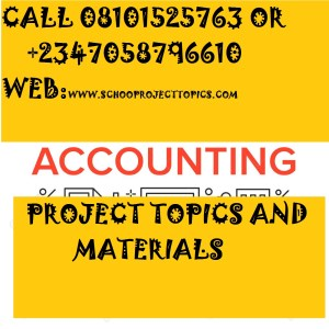 accounting project topics