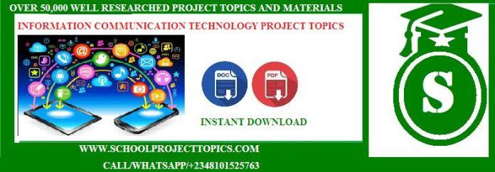 Information Communication Technology Project Topics