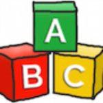 Against Borders for Children building block logo