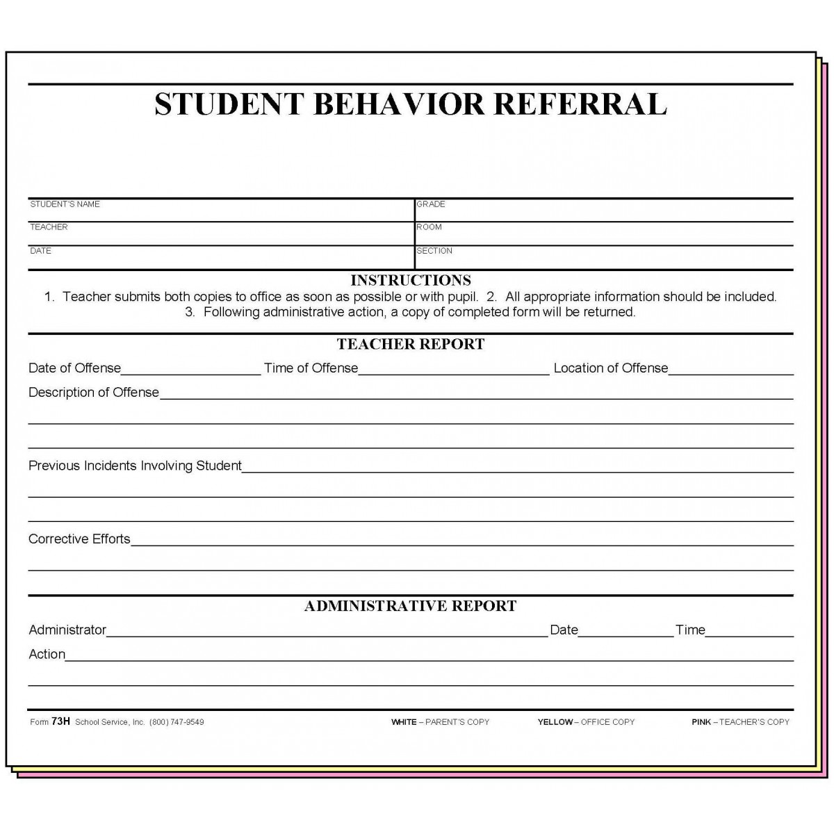 Detention Worksheet For Students