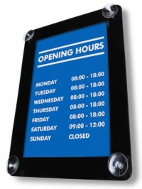 Window Display Poster Holder - Signs 4 Schools
