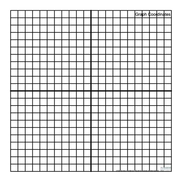 Marsh PR-404-GC Graph Coordinates Magnetic Whiteboard