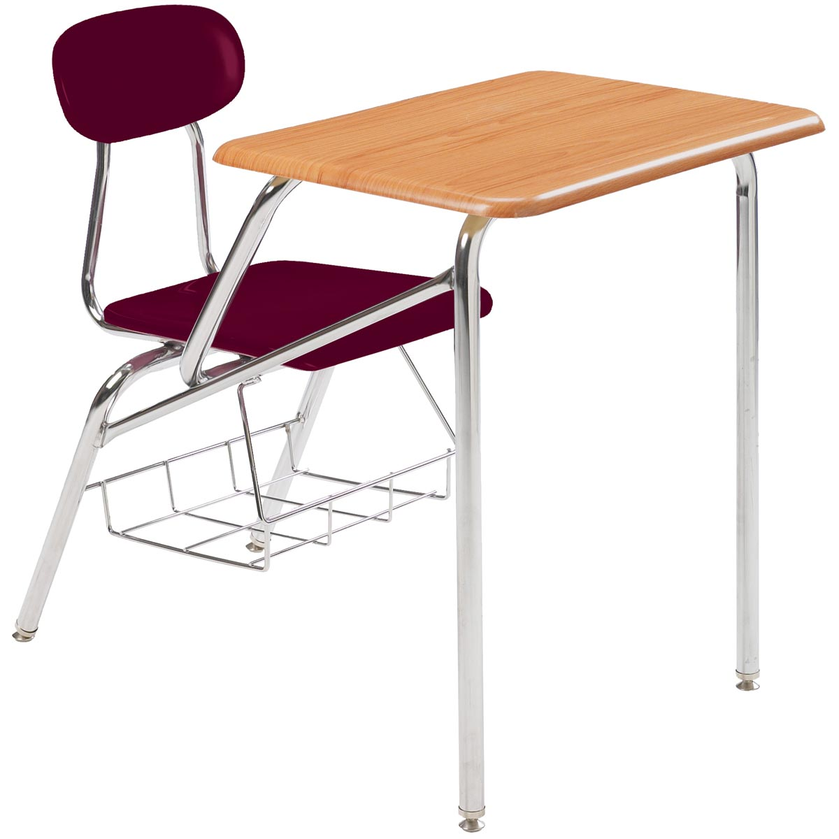student desk chair combo best nursery rocking hard plastic series school with woodstone top