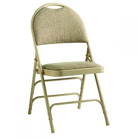cloth padded folding chairs denim chair covers 4 pk comfort series fabric schoolsin