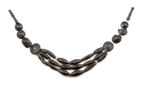 Bronze Age necklace made of Whitby jet. Image copyright Leeds Museums and Galleries.