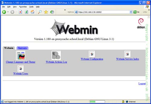 4 webmin welcome