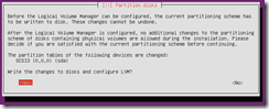 Ubuntu confirm write changes to partitions
