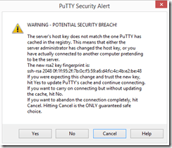 Putty security warning