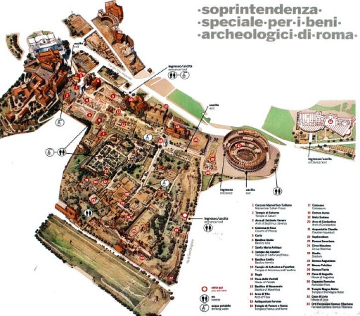 Mappa dei fori