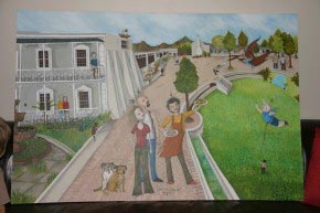 A quirky painting of our family | Schoone Oordt Country House