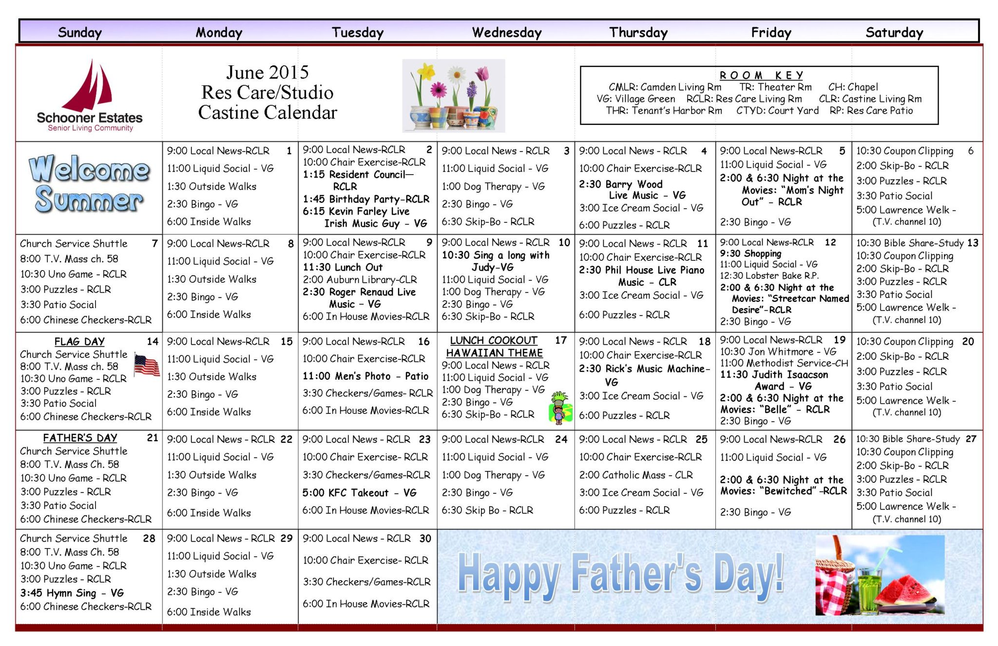 June Activity Calendars