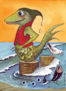 Nix am Scharmützelsee, gezeichnet von Petra Elsner