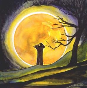 Mann im Mond, Zeichnung: P. Elsner