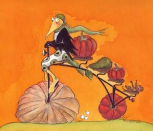 Kürbisvogel (1),  gezeichnet von Petra Elsner (verkauft)