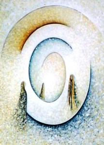 Petra Elsner: Lichtweg, 60 x 80, Mischtechnik auf Leinwand, 2004