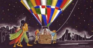 Wir verlassen diese Stadt, gezeichnet von Petra Eksber