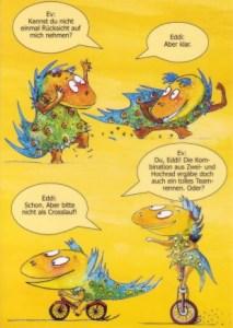 Dinokarte 1  Zeichnungen von Petra Elsner