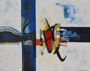 Geheimnis 55 (b), 100 x 80, Acryl auf Leinwand von Petra Elsner